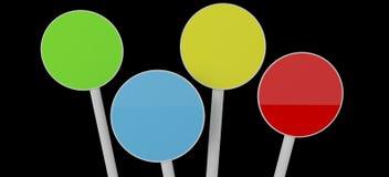 De ronde kleur geïsoleerdew platen stock illustratie