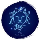 De ronde Leeuw van het dierenriemteken royalty-vrije illustratie