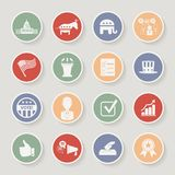 De ronde politieke geplaatste pictogrammen van de verkiezingscampagne Royalty-vrije Stock Foto