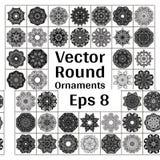 De ronde siert inzameling vector illustratie