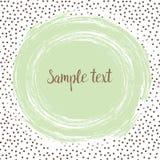 De ronde stippelt malplaatje met een munt groene punt met ruimte voor uw tekst Stock Foto
