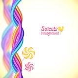 De ronde suikergoedregenboog kleurt snoepjesachtergrond Royalty-vrije Stock Foto's