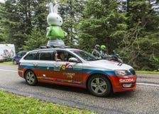 De Ronde van Frankrijk 2014 van de Nijntjecaravan Le Stock Foto