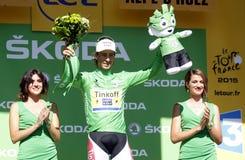 De Ronde van Frankrijk van Peter Sagan 2015 Royalty-vrije Stock Afbeelding