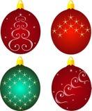 De ronde van het Kerstmisspeelgoed Royalty-vrije Stock Afbeeldingen