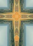 De ronde verpakt kruis in balen Stock Afbeelding