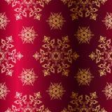 De rood-en-gouden naadloze achtergrond van Kerstmis Royalty-vrije Stock Foto's