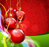 De rood-groene achtergrond van het nieuwjaar Royalty-vrije Stock Afbeelding