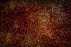 De roodachtige bruine achtergrond van de het metaaltextuur van de grungeroest Stock Foto's