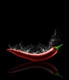 De roodgloeiende Peper van de Spaanse peper Royalty-vrije Stock Foto's