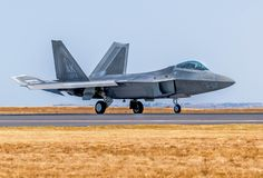 De Roofvogel van Lockheed Martin F-22A stock afbeeldingen