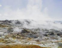 de rook van de de berglava van vulcanoijsland Stock Afbeeldingen