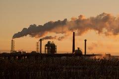 De rook van de fabriek stock foto