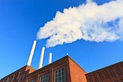 De rook van de fabriek stock afbeelding