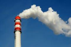 De rook van de schoorsteen Stock Afbeelding