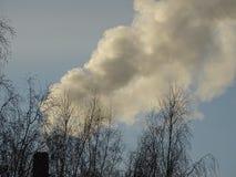De rook van de fabriek Royalty-vrije Stock Afbeeldingen