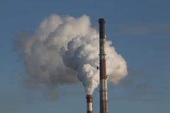 De rook van fabriekspijpen Royalty-vrije Stock Afbeelding