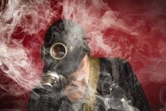 De Rook van het mensengasmasker royalty-vrije stock foto's
