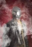 De Rook van het mensengasmasker royalty-vrije stock foto