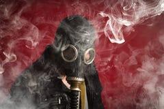 De Rook van het mensengasmasker stock afbeelding