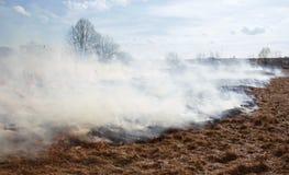 De rook van wolken Stock Foto