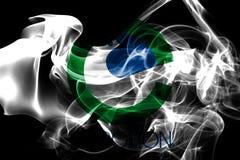 De rookvlag van de Carrolltonstad, Texas State, Verenigde Staten van Ameri royalty-vrije illustratie