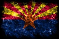 De rookvlag van de staat van Arizona, de Verenigde Staten van Amerika stock fotografie