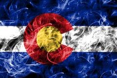De rookvlag van de staat van Colorado, de Verenigde Staten van Amerika royalty-vrije stock fotografie