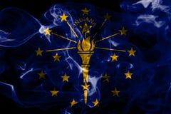 De rookvlag van de staat van Indiana, de Verenigde Staten van Amerika stock fotografie