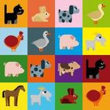 De rooster naïeve karikatuur van dieren Stock Foto