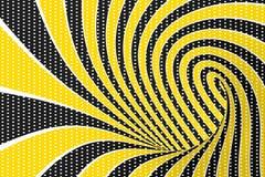 De roosterillustratie van de torus optische 3D illusie Het verdraaien van lijnen en vlekkenpatroon Oneindigheidseffect hypnotic b royalty-vrije illustratie