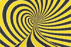 De roosterillustratie van de torus optische 3D illusie Het verdraaien van lijnen en vlekkenpatroon Oneindigheidseffect hypnotic b stock illustratie