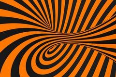 De roosterillustratie van de tunnel optische 3D illusie De achtergrond van contrastlijnen Hypnotic strepenornament Psychedelisch, stock illustratie