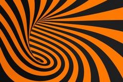 De roosterillustratie van de tunnel optische 3D illusie De achtergrond van contrastlijnen Hypnotic strepenornament Psychedelisch, vector illustratie