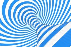 De roosterillustratie van de wervelings optische 3D illusie Contrast spiraalvormige strepen Het geometrische beeld van de de wint royalty-vrije illustratie