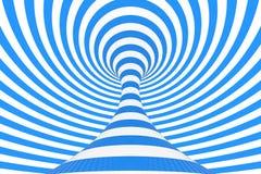 De roosterillustratie van de wervelings optische 3D illusie Contrast spiraalvormige strepen Het geometrische beeld van de de wint vector illustratie
