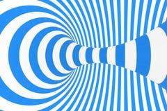 De roosterillustratie van de wervelings optische 3D illusie Contrast spiraalvormige strepen Het geometrische beeld van de de wint stock illustratie