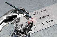 De Rorbothand stemt met digitale pen royalty-vrije stock foto's