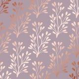 Or de Rose Modèle floral décoratif élégant pour l'impression Photo stock