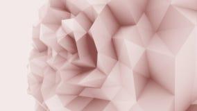 De Rose poly fond énervé de sphère bas pour des rapports et des présentations modernes rendu 3d Photos stock