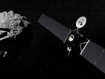 De Rosettasonde en stervormige 3D geven terug stock illustratie