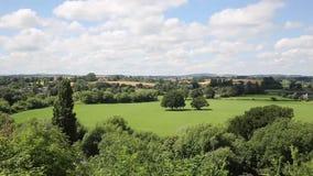 De ross-op-Y Herefordshire Engeland het UK van de plattelandsscène een kleine marktstad in de Yvallei op de rand van het Bos van  stock videobeelden