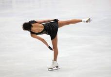 De rotatie van kunstschaatsen Stock Foto