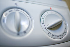 De roterend-schakelaar van de wasmachine royalty-vrije stock fotografie
