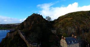 De Rots en het Kasteel van Dumbarton Stock Afbeeldingen