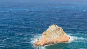 De rots in het overzees Royalty-vrije Stock Foto
