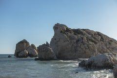 De Rots van Aphrodite in Cyprus stock fotografie