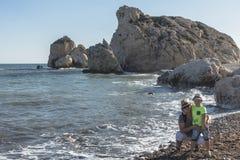 De Rots van Aphrodite in Cyprus royalty-vrije stock foto