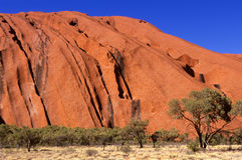 De Rots van Ayers, Centraal Australië Stock Fotografie
