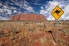 De Rots van Ayers - Uluru Royalty-vrije Stock Afbeeldingen